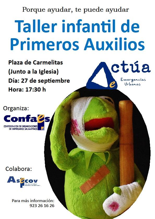 cartel taller infantil primeros auxilios