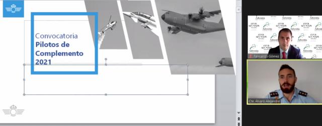 Jornada en Adventia sobre pilotos de complemento: una oportunidad laboral en el Ejército del Aire para graduados en piloto de aviación comercial
